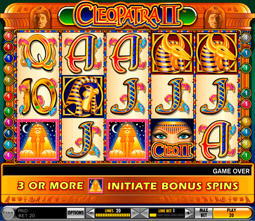cleopatra ii pokie game igt